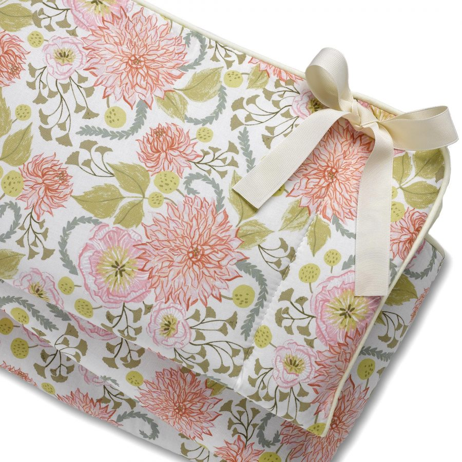Liz and Roo Pink Floral Rail Cover