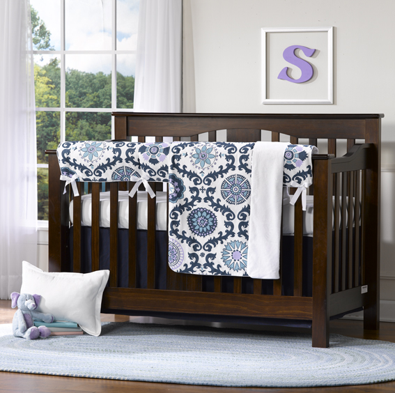 Liz and Roo Rosa Berries Crib Rail Cover