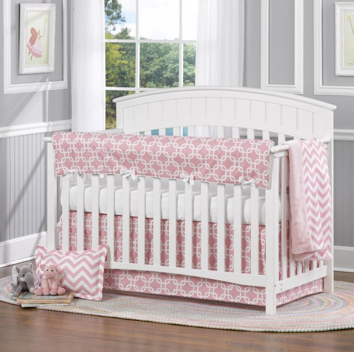 Liz & Roo Pink Metro 4 Piece Baby Bedding Set