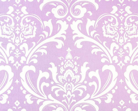 Liz and Roo Lavender Damask Window Valance