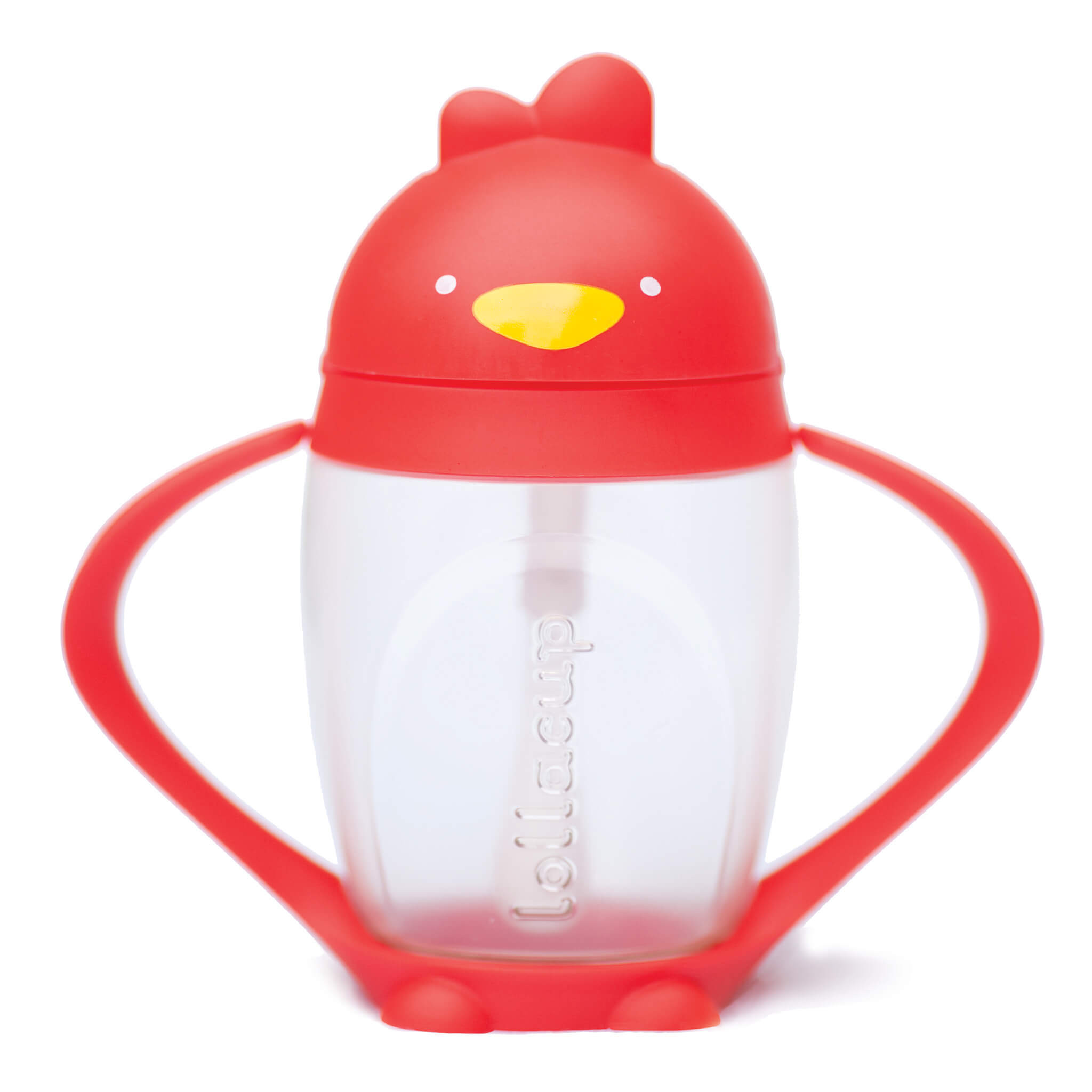 Lollaland Bold Red Lollacup Toddler Straw Cup
