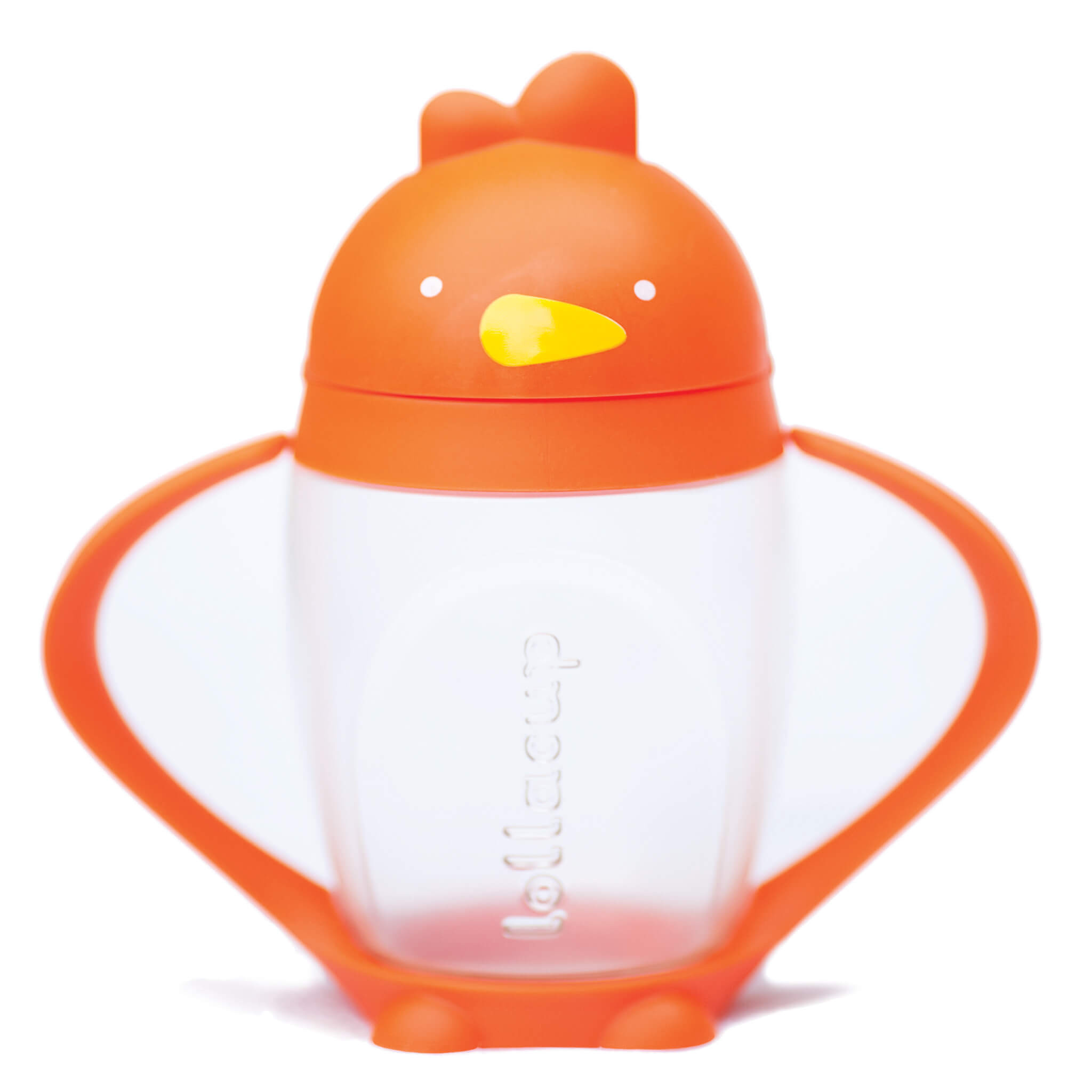 Lollaland Happy Orange Lollacup Toddler Straw Cup