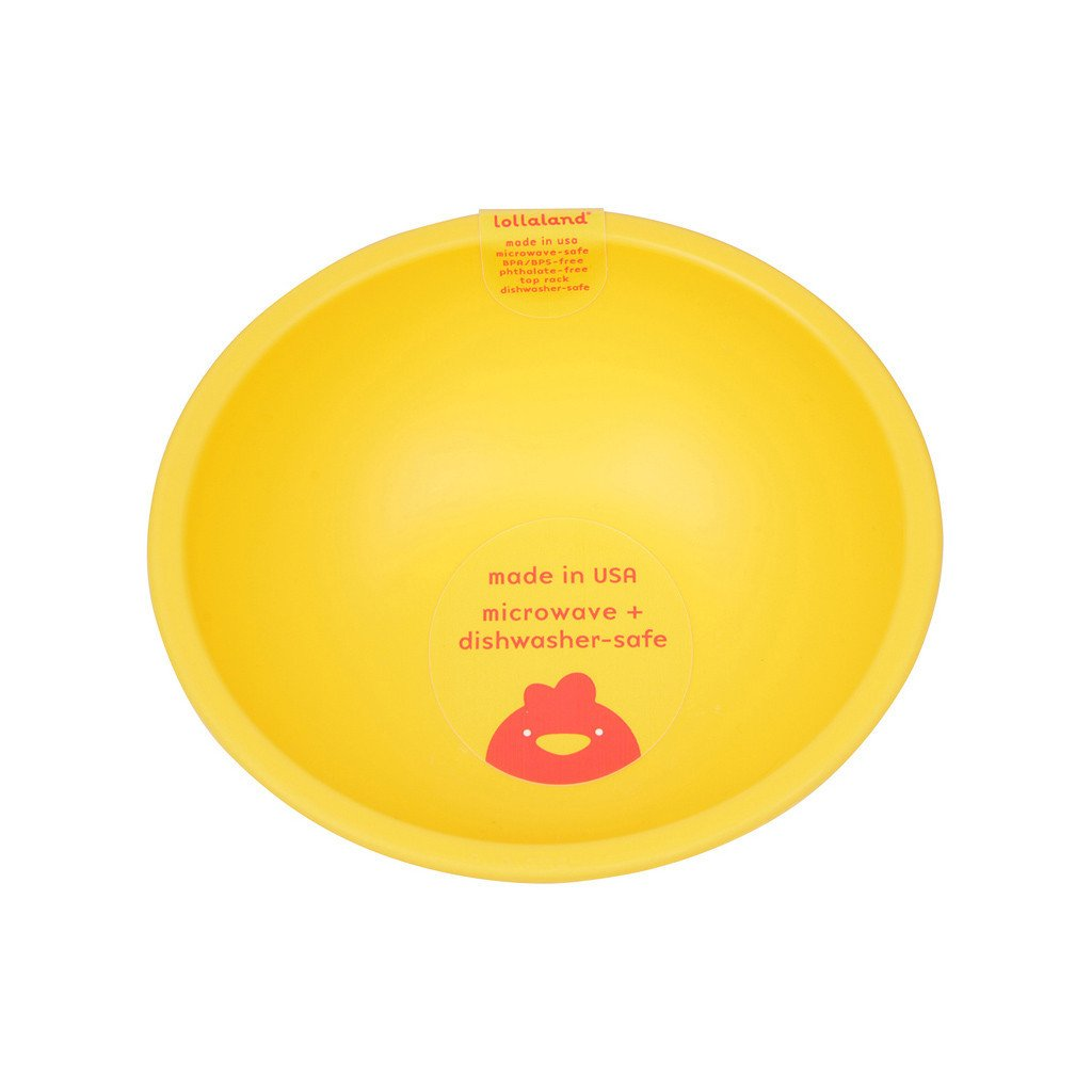 Lollaland Mealtime Set Bowl, Chirpy Yellow
