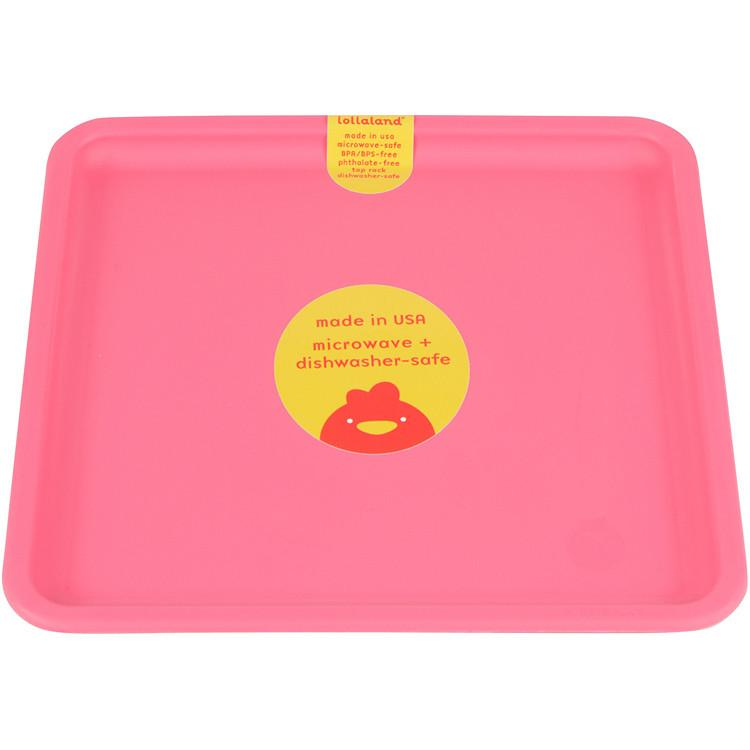 Lollaland Mealtime Set Plate, Posh Pink