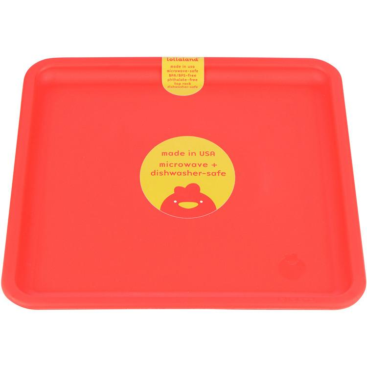 Lollaland Mealtime Set Plate, Bold Red