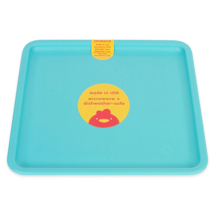 Lollaland Mealtime Set Plate, Turquoise