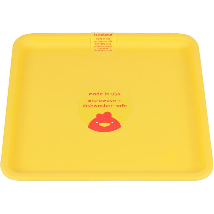 Lollaland Mealtime Set Plate, Chirpy Yellow