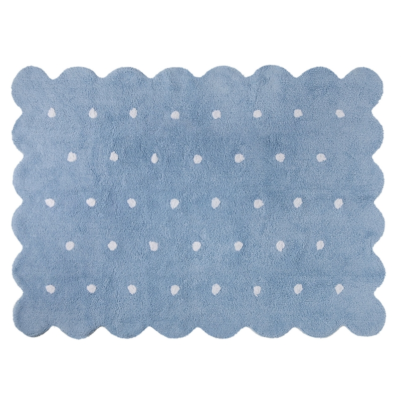 Lorena Canals Galleta Biscuit Rug, Blue