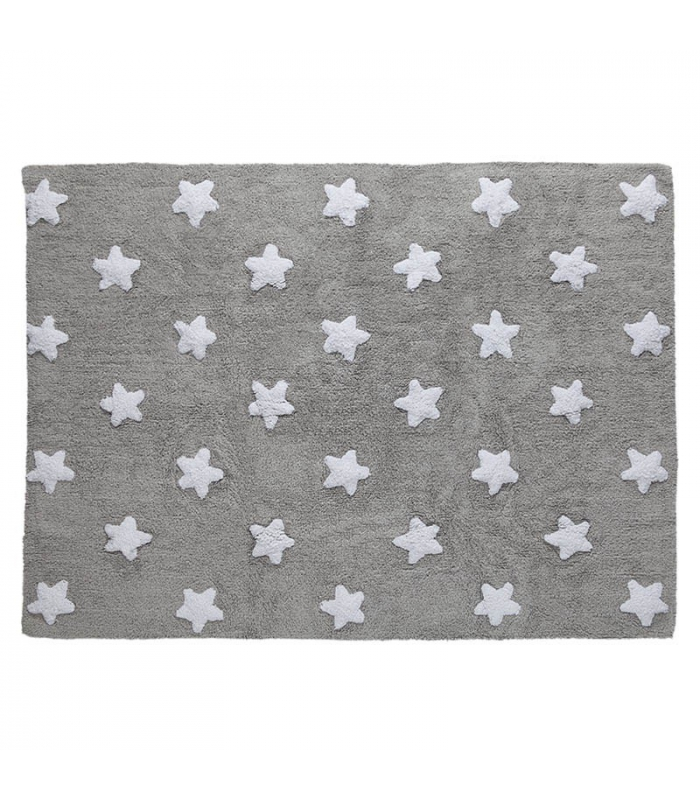Lorena Canals Grey Stars White Rug