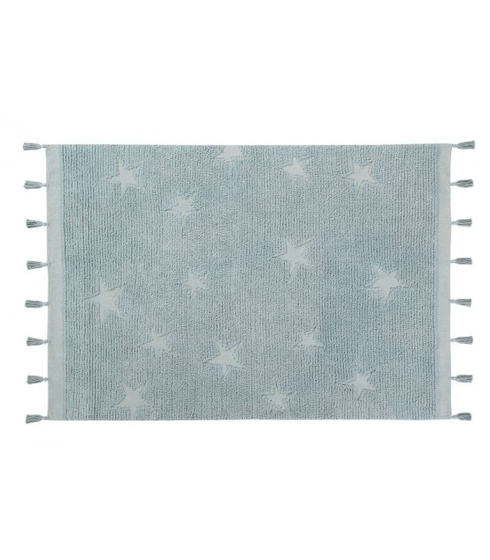 Lorena Canals Hippy Star Aqua Blue Rug