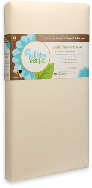 Lullaby Earth Super Lightweight Crib Mattress, 2 Stage