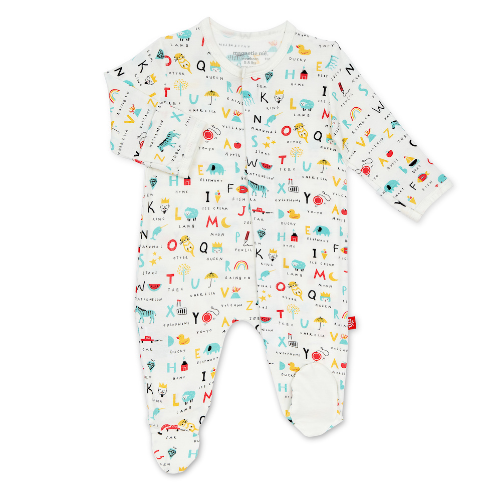 Magnetic Me ABC Love Modal Magnetic Footie - 0-3 Months