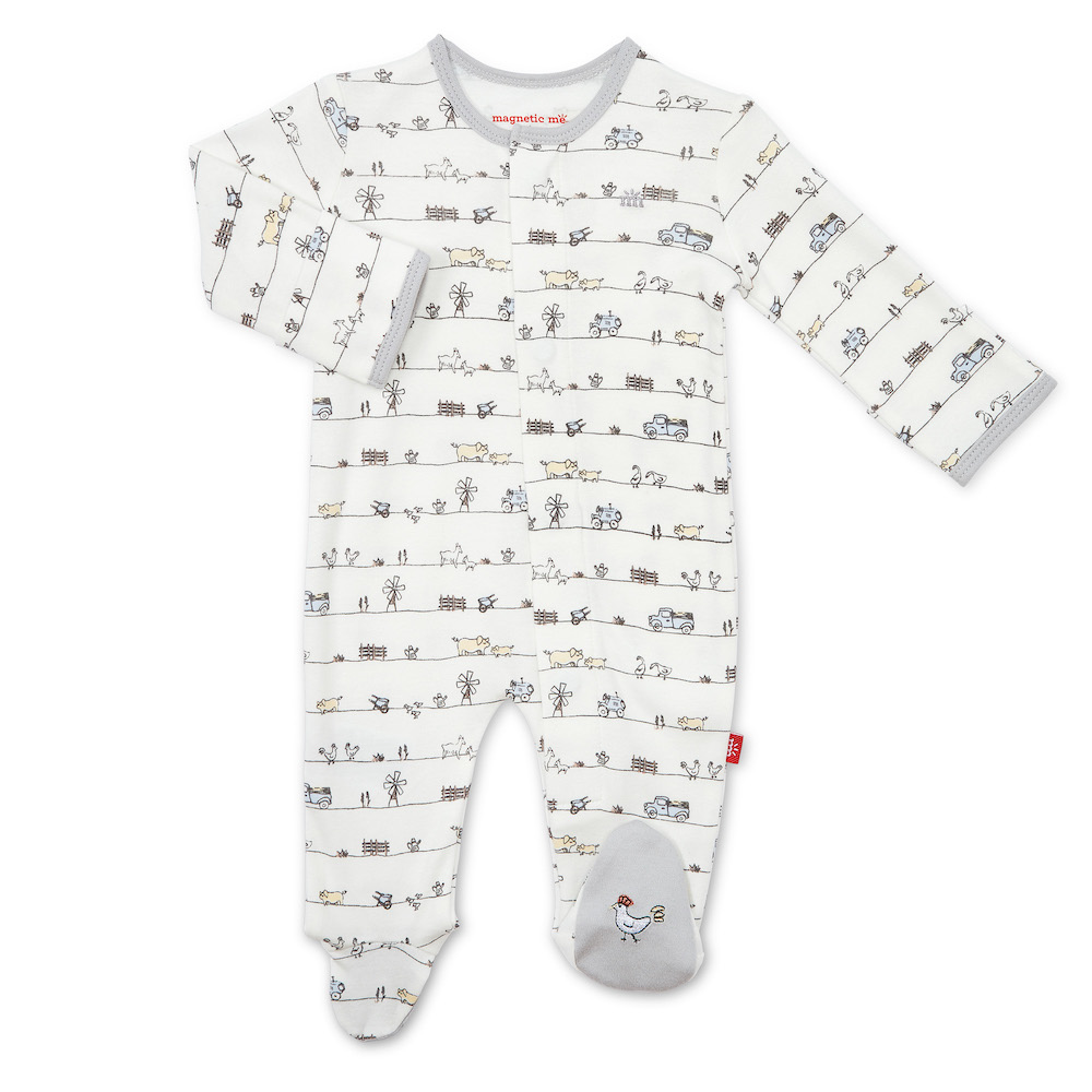 Magnetic Me Dig In Organic Cotton Magnetic Footie Newborn Destination Baby Kids