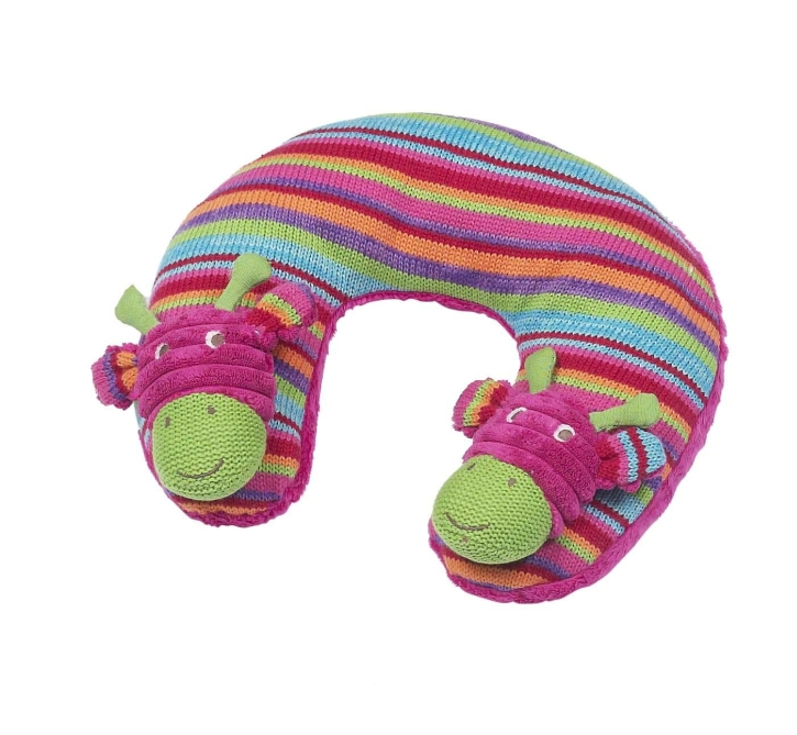 Maison Chic Hot Pink Chunky Cord Giraffe Travel Pillow