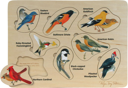 Maple Landmark Peterson Backyard Birds Puzzle