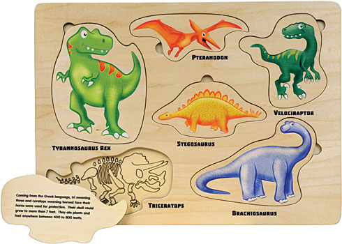 Maple Landmark Lift & Learn Dinosaurs Puzzle
