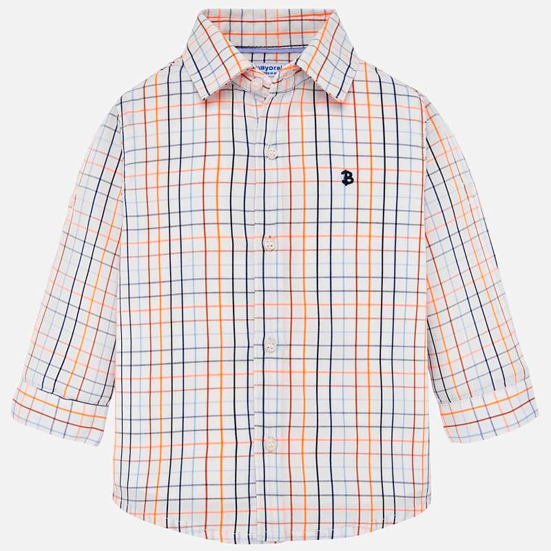 Mayoral Long Sleeved Checked Boys Shirt - Azul