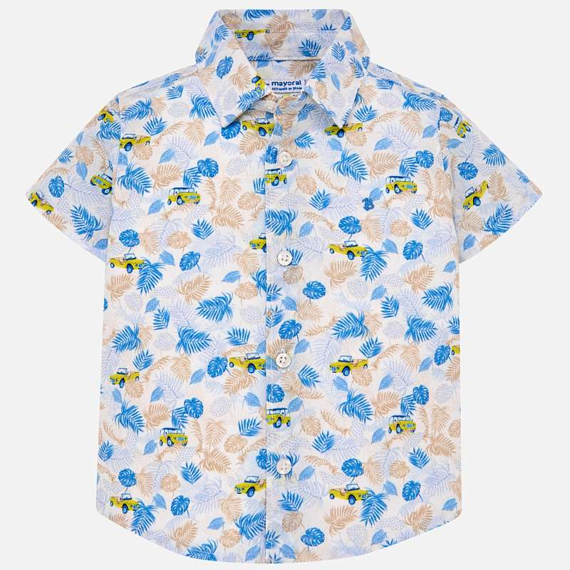 Mayoral Sleeveless Patterned Boy Shirt - Lemon