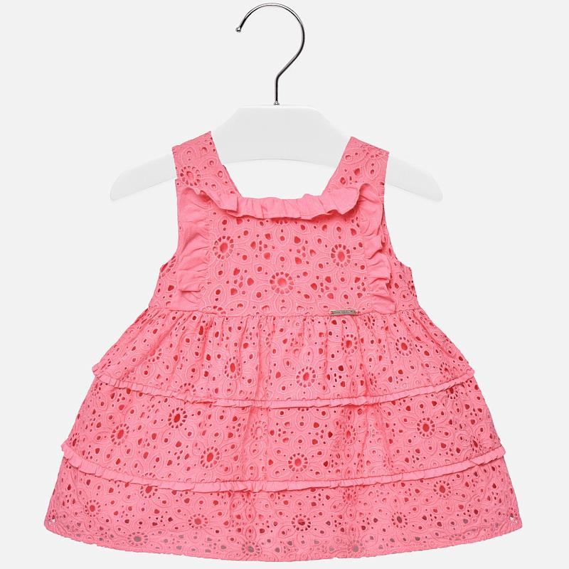 Mayoral Sleeveless Openwork Bubblegum Dress