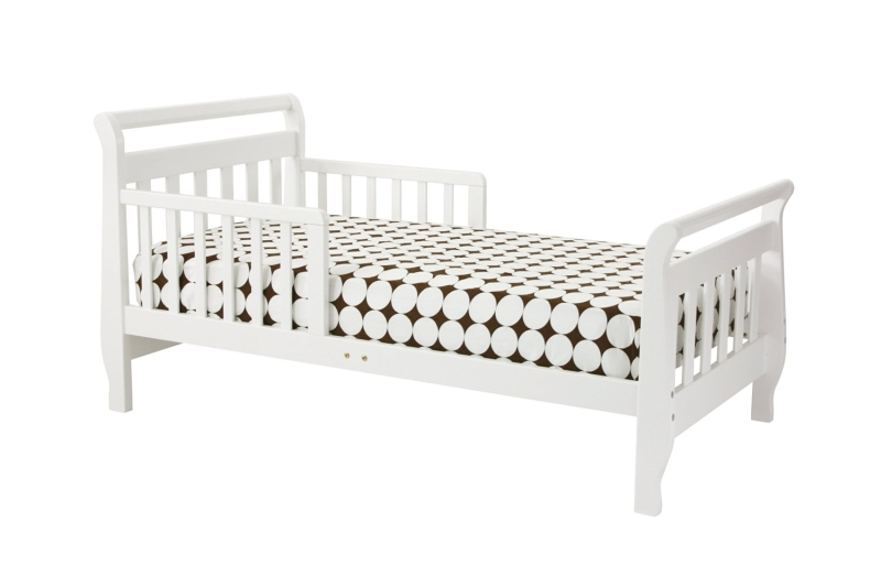Million Dollar Baby DaVinci Sleigh Toddler Bed, White