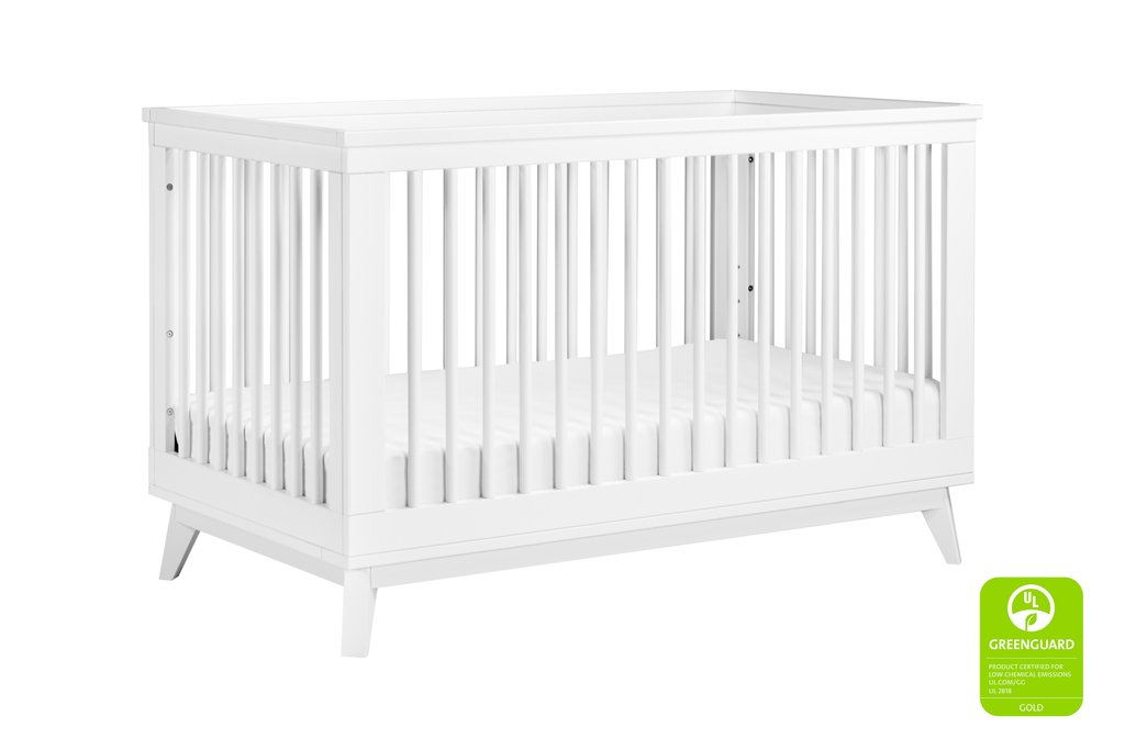 BabyLetto Scoot 3-in-1 Crib - White