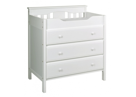 DaVinci Jayden 3 Drawer Changer - White