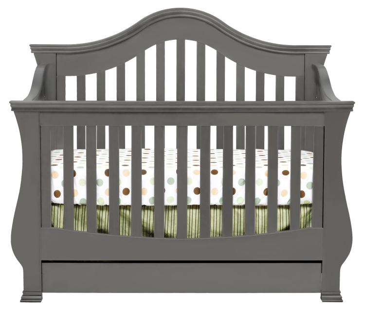 Million Dollar Baby Ashbury 4-in-1 Crib - Manor Grey