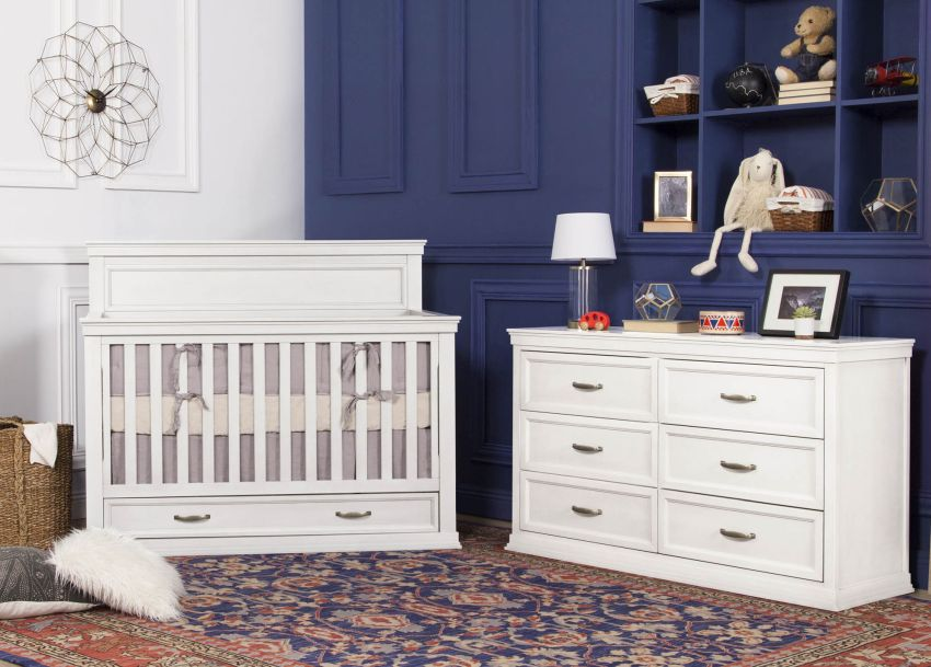 Franklin & Ben Langford Crib and Dresser - Warm White
