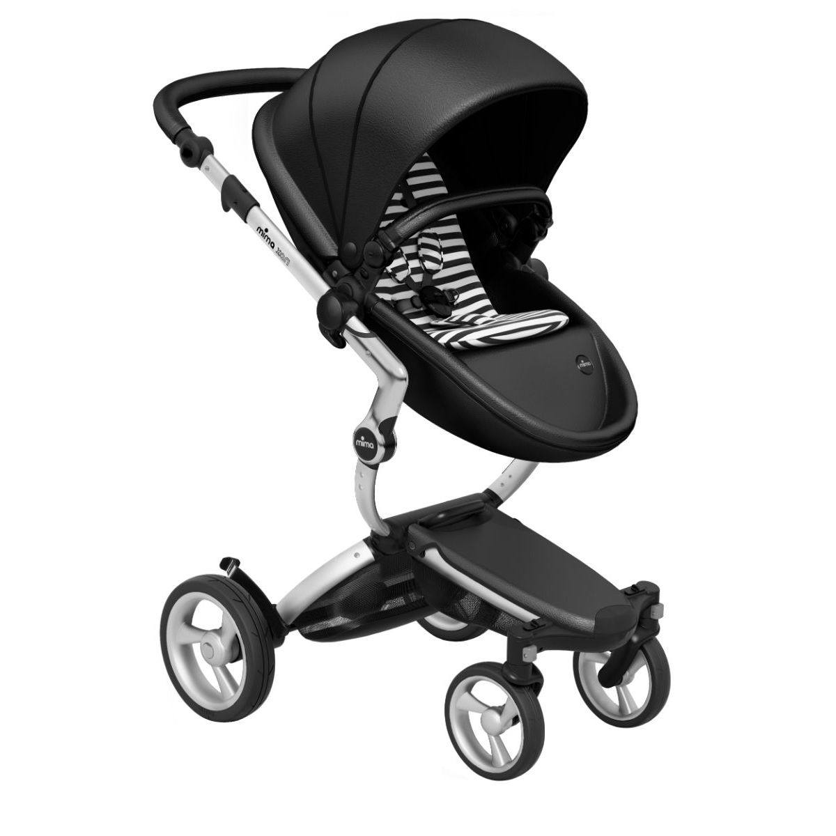 Mima Xari Black with Silver Chassis - Black and White