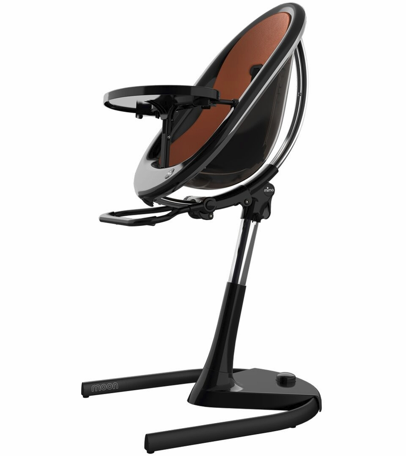 Mima Moon 2G High Chair - Black with Camel