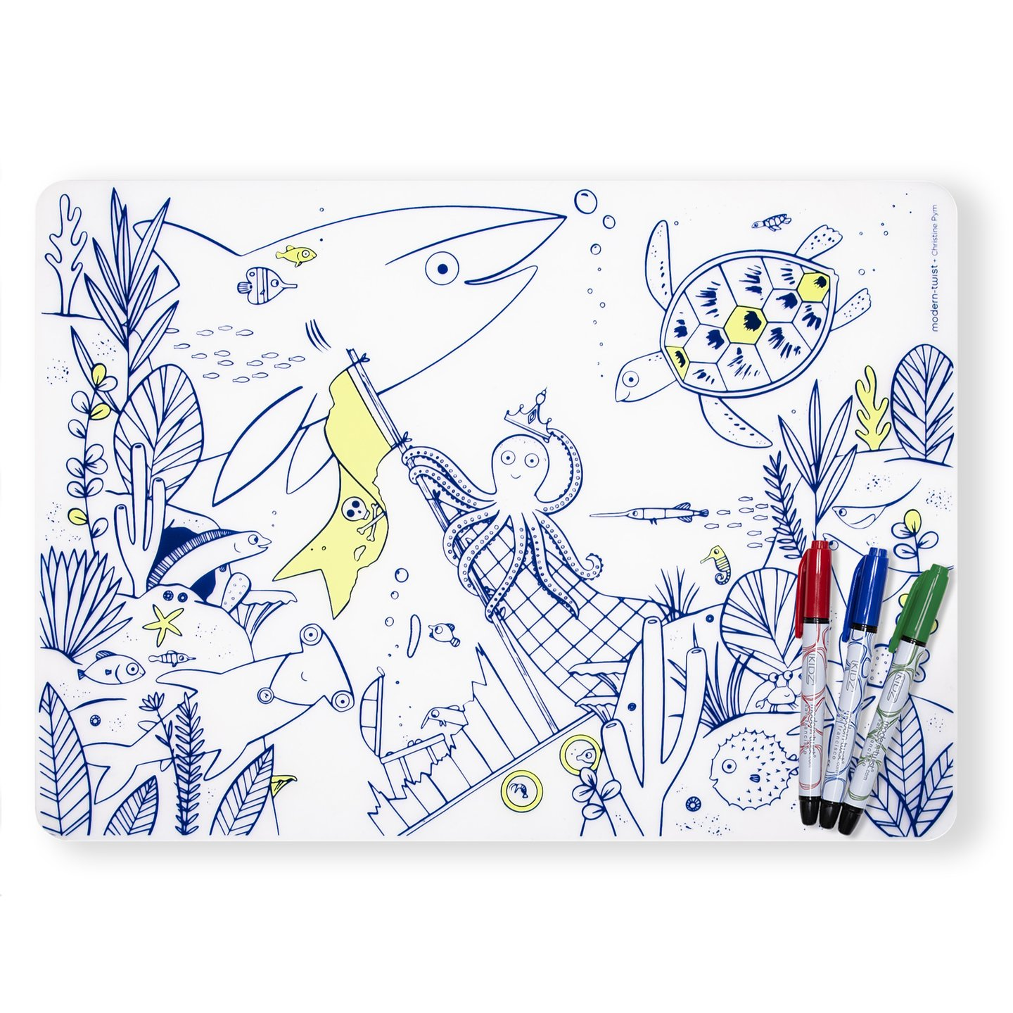 Modern Twist Mark-Mat Set - Under The Sea