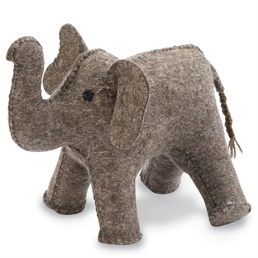 Mud Pie Elephant Bookend - Brown