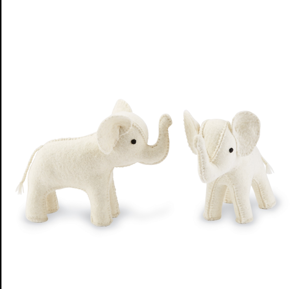 Mud Pie Elephant Bookend - Ivory