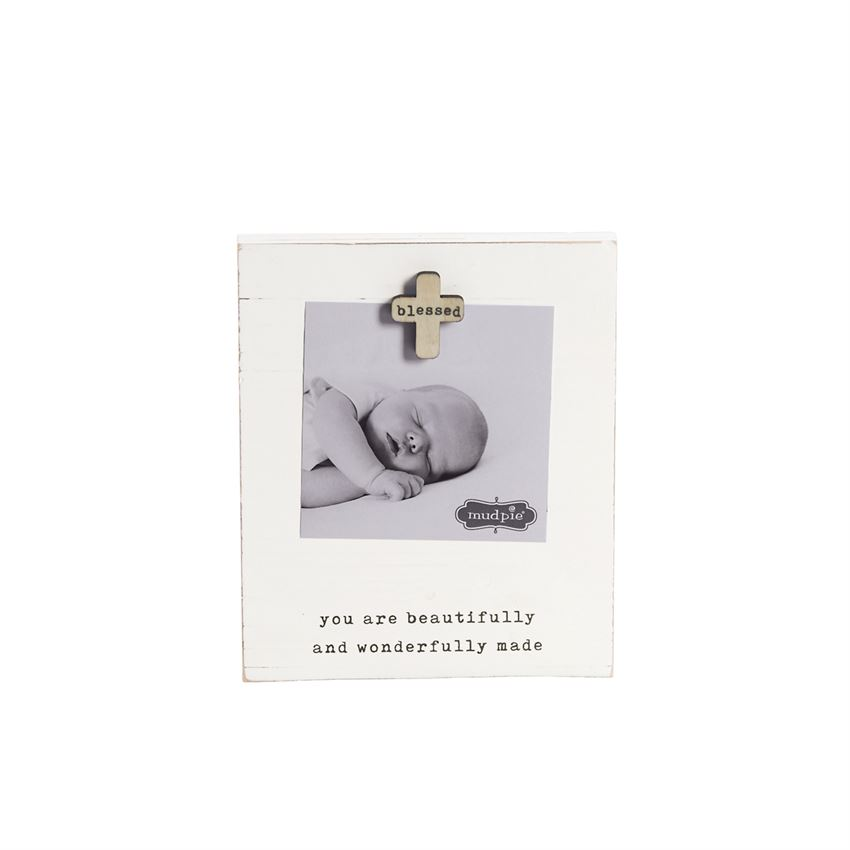 Mud Pie Blessed Baby Magnetic Frame
