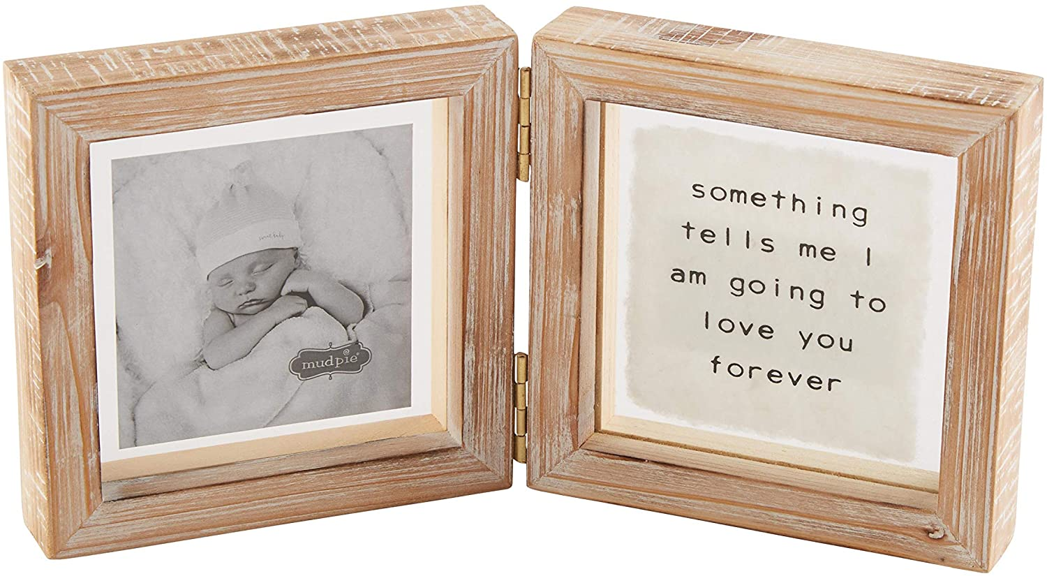 Mud Pie Baby Forever Glass Hinged Frame