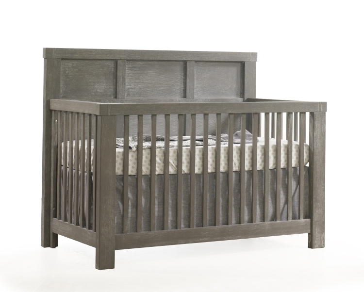 Natart Rustico Convertible Crib with Wood Panel, Owl