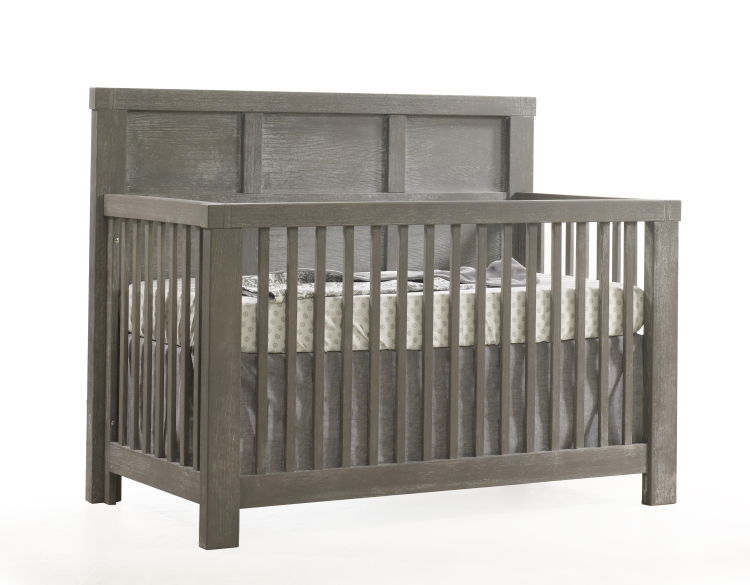 Natart Rustico Convertible Crib with Wood Panel