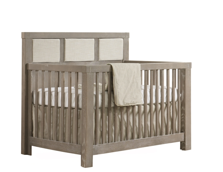 Natart Rustico Convertible Crib with Upholstered Fog Panel