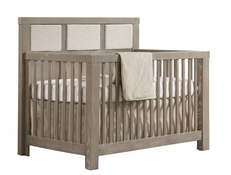 Natart Rustico Convertible Crib with Talc Panel, Sugarcane