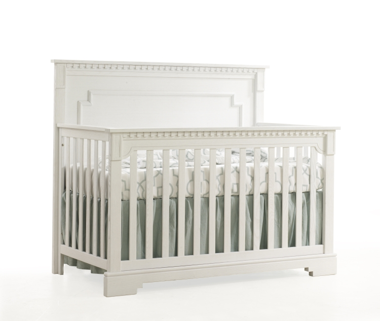 Natart Ithaca Convertible Crib with Wood Panel
