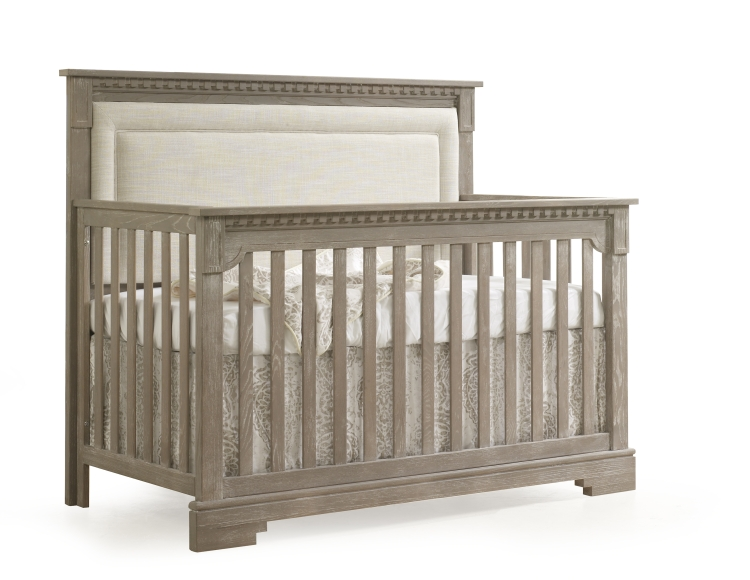 Natart Ithaca Convertible Crib with Upholstered Panel