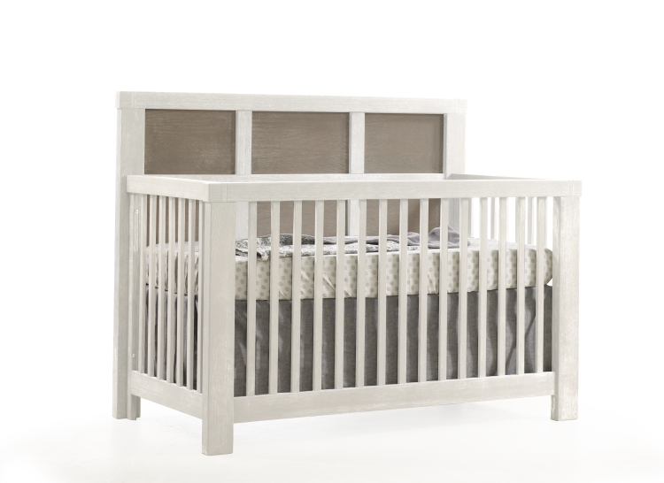 Natart Rustico Moderno Convertible Crib and 6 Drawer Dresser