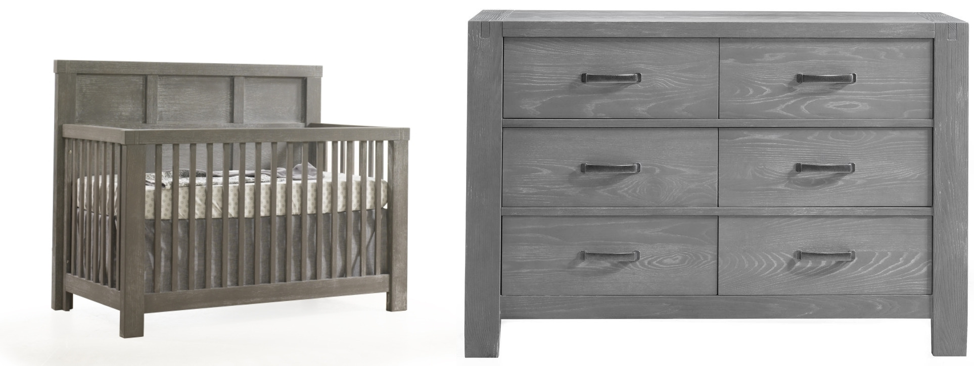 Natart Rustico Crib and Double Dresser - Owl