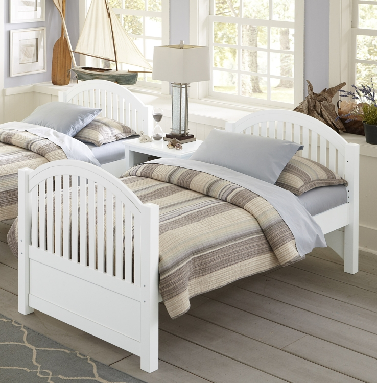 NE Kids Lake House Adrian Twin Bed, White