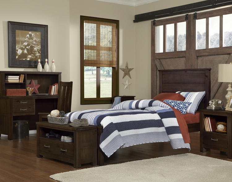 NE Kids Highlands Alex Twin Panel Bed, Espresso