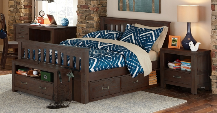 NE Kids Highlands Harper Full Bed - Espresso