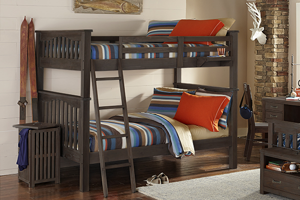 NE Kids Highlands Harper Full over Full Bunk Bed, Espresso