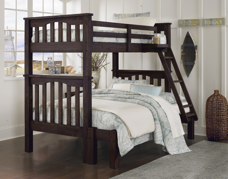 NE Kids Highlands Harper Twin / Full Bunk Bed - Espresso