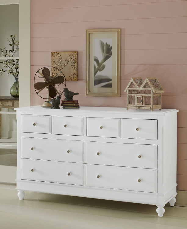 NE Kids Lake House 8 Drawer Dresser, White
