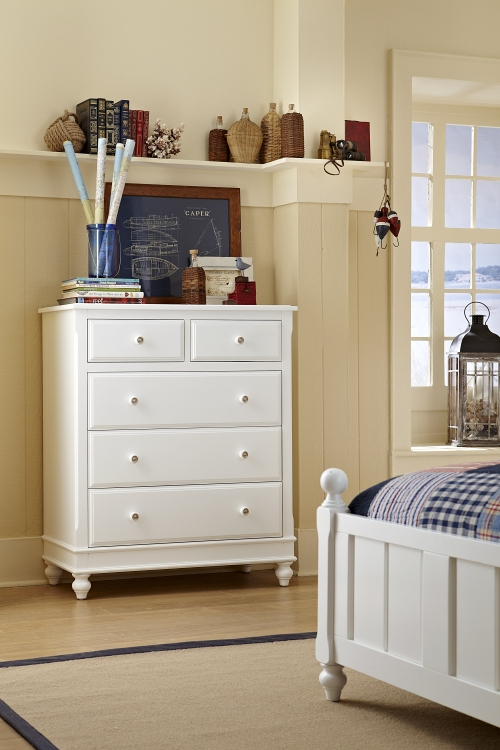 NE Kids Lake House 5 Drawer Chest, White